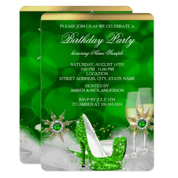 Glitter Lime Green High Heel Shoes Gold Champagne Invitation