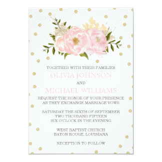 Wedding Invitations Painted Peonies