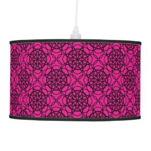 Glitter Pink and Black Pattern Rhinestones Lamps