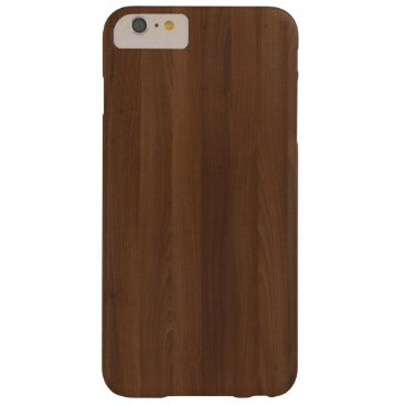 Glossy Chocholate Wood Grain Barely There iPhone 6 Plus Case