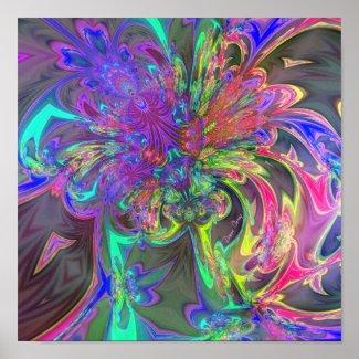 Glowing Burst of Color – Teal & Violet Deva print