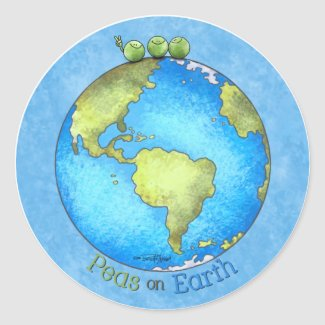 Go Green! - Peace on Earth sticker