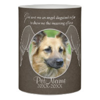 God Sent an Angel Pet Sympathy Custom Flameless Candle