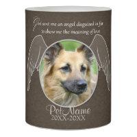 God Sent an Angel Pet Sympathy Custom Flameless Candle