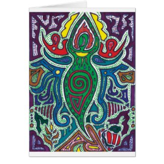Goddess, Calm in Chaos Greeting Card