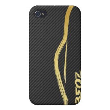 Gold 350z Brush Stroke 4g iPhone 4 Cover