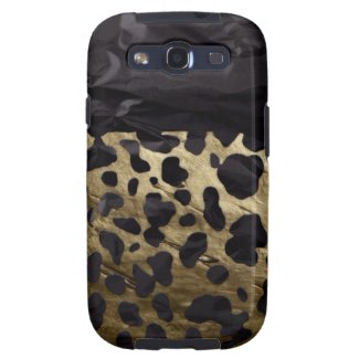Gold/Black Metal Textured Cheetah Samsung Galaxy SIII Case