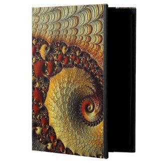 Gold/Burgundy fractal POWIS iPad air Case