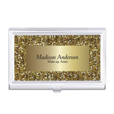Gold Confetti Glitter Print | DIY Text Business Card Case