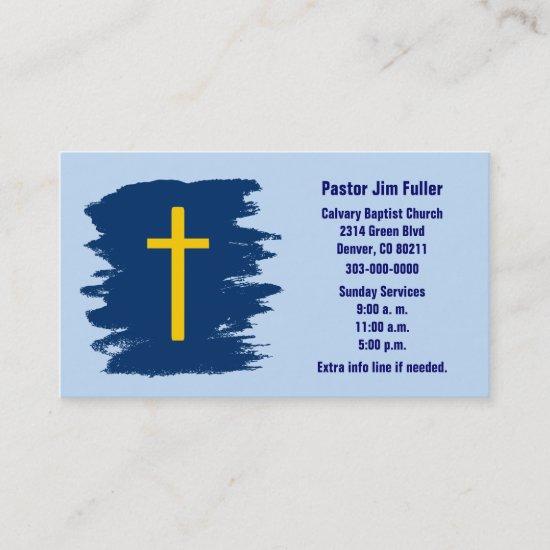 Gold Cross Christian Business Card