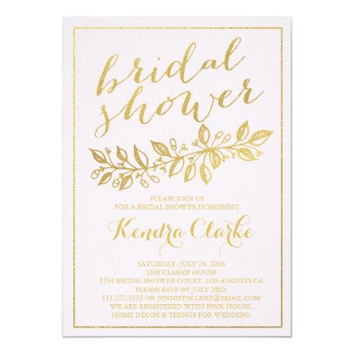 Bridal Shower Invitations Foil