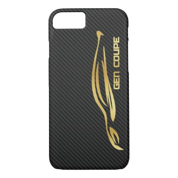 Gold Hyundai Genesis COUPE Logo iPhone 8/7 Case