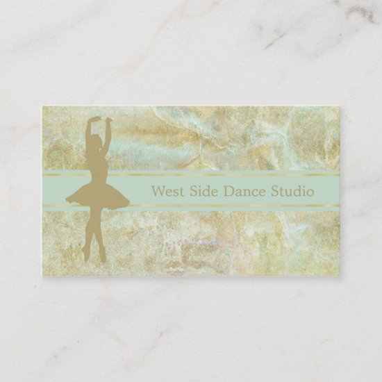 Gold Mint Abstract Ballet Business Card