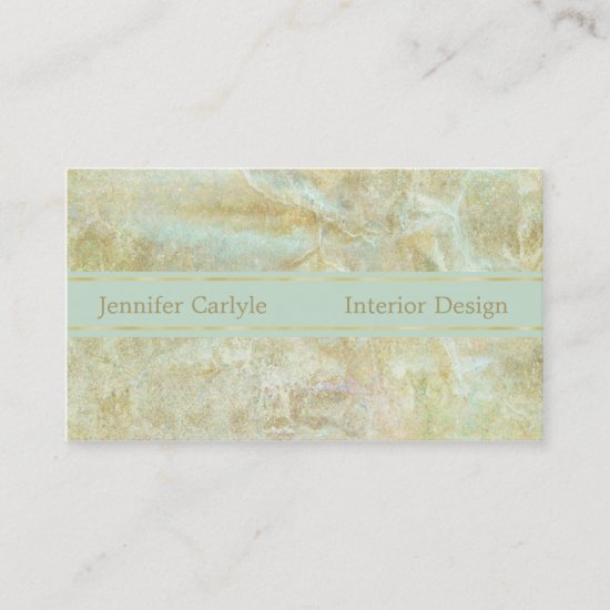 Gold Mint Abstract Professional Business Card