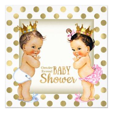Gold Prince or Princess Gender Reveal Baby Shower Card