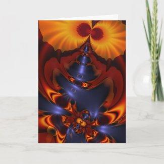 Golden Eyes – Amethyst & Amber Enchantment Card