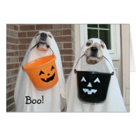 Golden Retriever Halloween Ghosts Greeting Cards