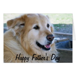 Golden Retriever Photo Happy Father's Day Greeting Card