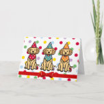 Golden Retriever Puppies Birthday Card