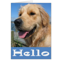 Golden Retriever Puppy Dog Blank Card