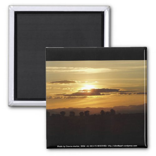 golden sunset magnet