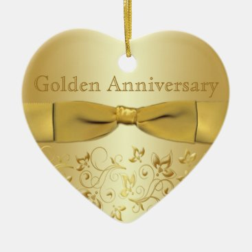 Golden Wedding Anniversary Christmas Ornament