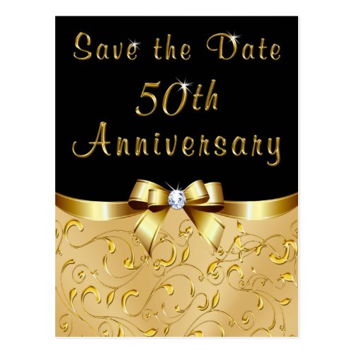 Golden Wedding Anniversary Save the Date Cards