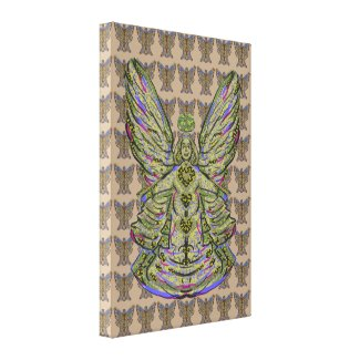 Goldest Angel Canvas Canvas Print