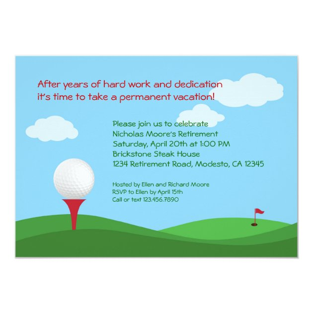 Save Date Cards Retirement Party