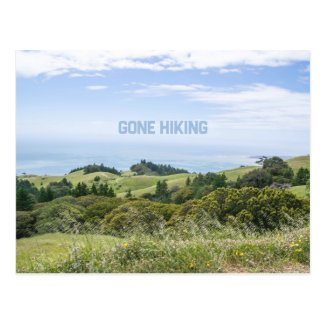 Gone Hiking Postcard