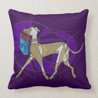 Gone Shopping, Art Deco Italian Greyhound Pillows