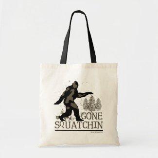 Gone Squatchin Novelty Tote Bag