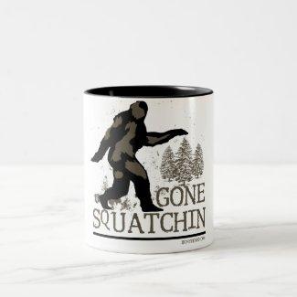 Gone Squatchin Two-Tone Coffee Mug