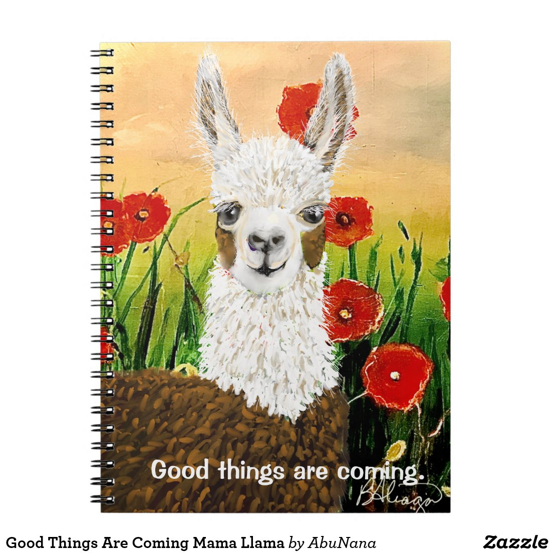 Good Things Are Coming Mama Llama Notebook