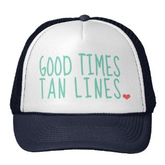 Good Times Tan Lines Summer hat girls
