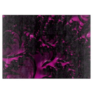 Gorgeous Fractal Art Glass Dec Cutting Boards