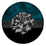 Gorgeous Grunge Rustic Rose Custom Gift Clock