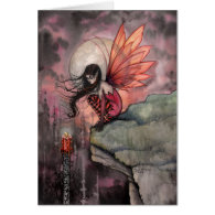 Gothic Autumn Fairy Art Card by Molly Harrison