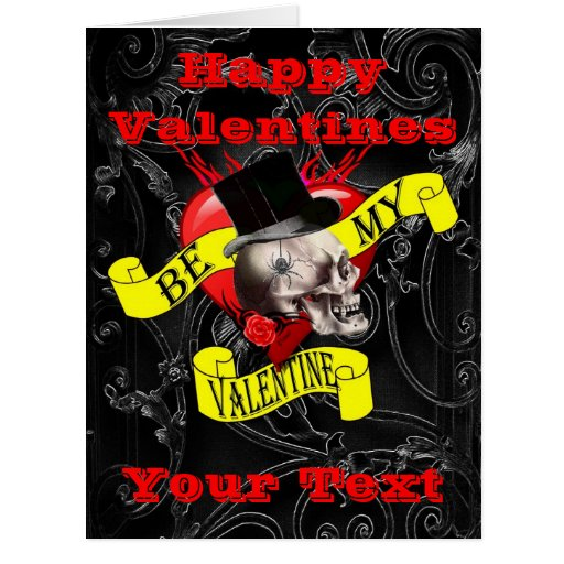 Gothic Steampunk Skull Valentines Day Card Zazzle