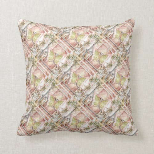 Grade A Cotton Throw Pillow 20x20/Butterflies