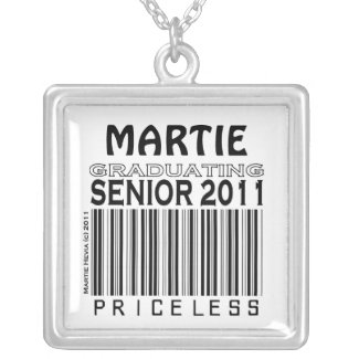 Graduating Senior 2011 Priceless - Your Name - Nec necklace