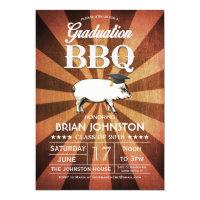 Graduation BBQ Invitations (Gold)