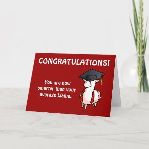 Graduation Llama Card