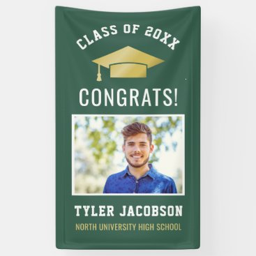 Graduation Party Class of 2018 | Green and Gold Banner