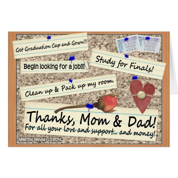 Graduation - Thanks Mom & Dad - Card