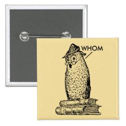 Grammar Owl Says Whom Button