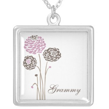 Grammy Necklace Stylish Dahlia Flowers