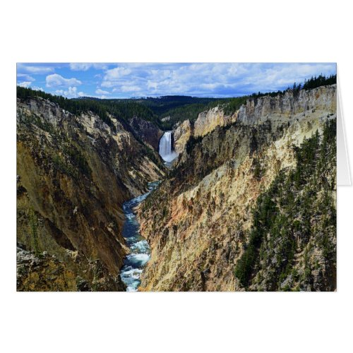 Grand Canyon of the Yellowstone River Greeting Card