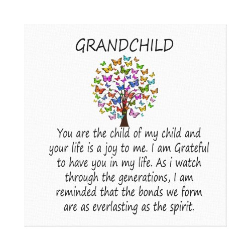 Grandchild Canvas Print