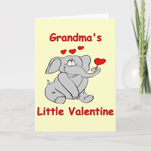 Grandma's Little Valentine Holiday Card